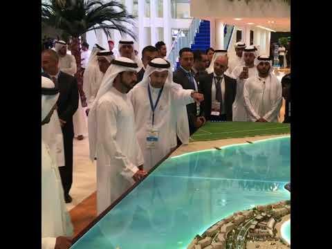 His Highness Sheikh Hamdan visits Al Marjan Island at Cityscape 2017