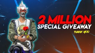 FREE FIRE LIVE - 2M SPECIAL GIVEAWAY || TONDE GAMER