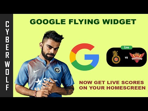 Download Google's New Feature for Cricket Fans | Scores Widget |Cyber Wolf