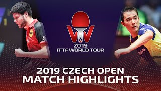 Дмитрий Овчаров vs Hugo Calderano | Czech Open 2019 (1/2)