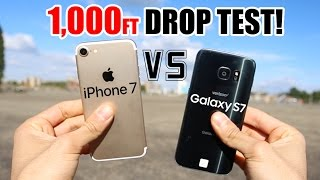 iPhone 7 vs Samsung Galaxy S7 1000 FT Drop Test!! Which one survived?