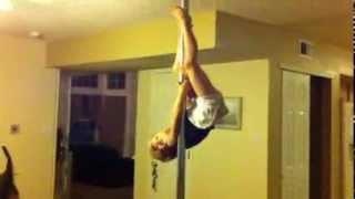 Pole Dance Invert 5 Year Old Girl!