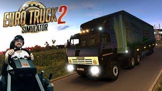 Скачать Продолжаем покатушки на Юг России на Камазе 54115 Euro Truck Simulator 2 на руле Fanatec ClubSport