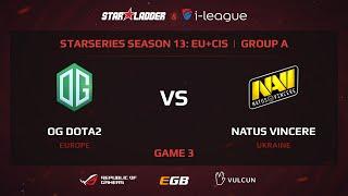 Na'Vi vs OG , StarSeries 13 EU, Game 3