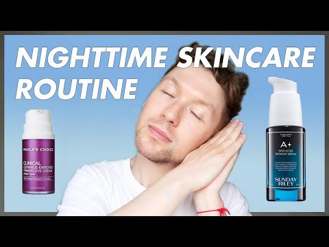 MY EVENING SKINCARE ROUTINE / Sunday Riley A* / Paula's Choice Retinol / James Just Now thumbnail