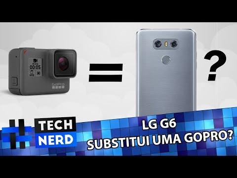 UMA GOPRO NO SEU CELULAR! LG G6 - GRAVANDO EM 1080P À 60FPS ( Com as duas câmeras! )- CAMERA TEST