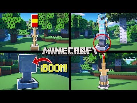 ✔ Minecraft: TOP 10 Decoraciones Con SOPORTE PARA ARMADURAS En MINECRAFT 😍