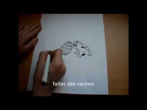 comment dessiner un lapin de paques facile 3 youtube. Black Bedroom Furniture Sets. Home Design Ideas