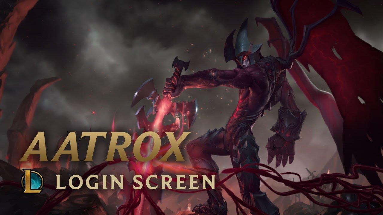 Aatrox the Darkin Blade  Login Screen  League of