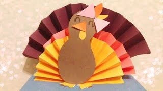 DIY 3D Paper Turkey Thumbnail