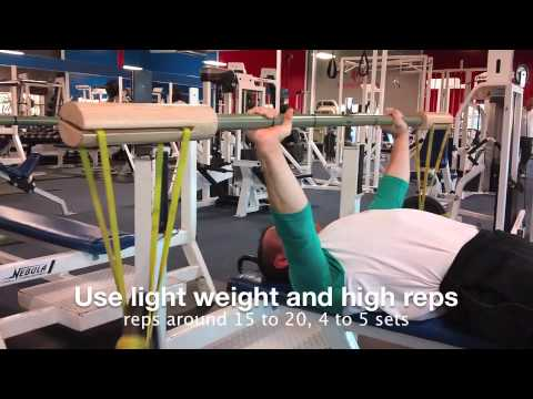 Step 2 & 3: Bench Shrugs And High-Rep Benching For Shoulder Rehab