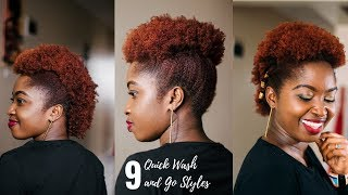 9 QUICK WASH AND GO STYLES + TIPS   MEDIUM TO SHORT HAIR   JUST MARGIE
