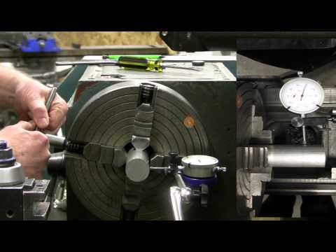 Dialing in a 4-jaw lathe chuck