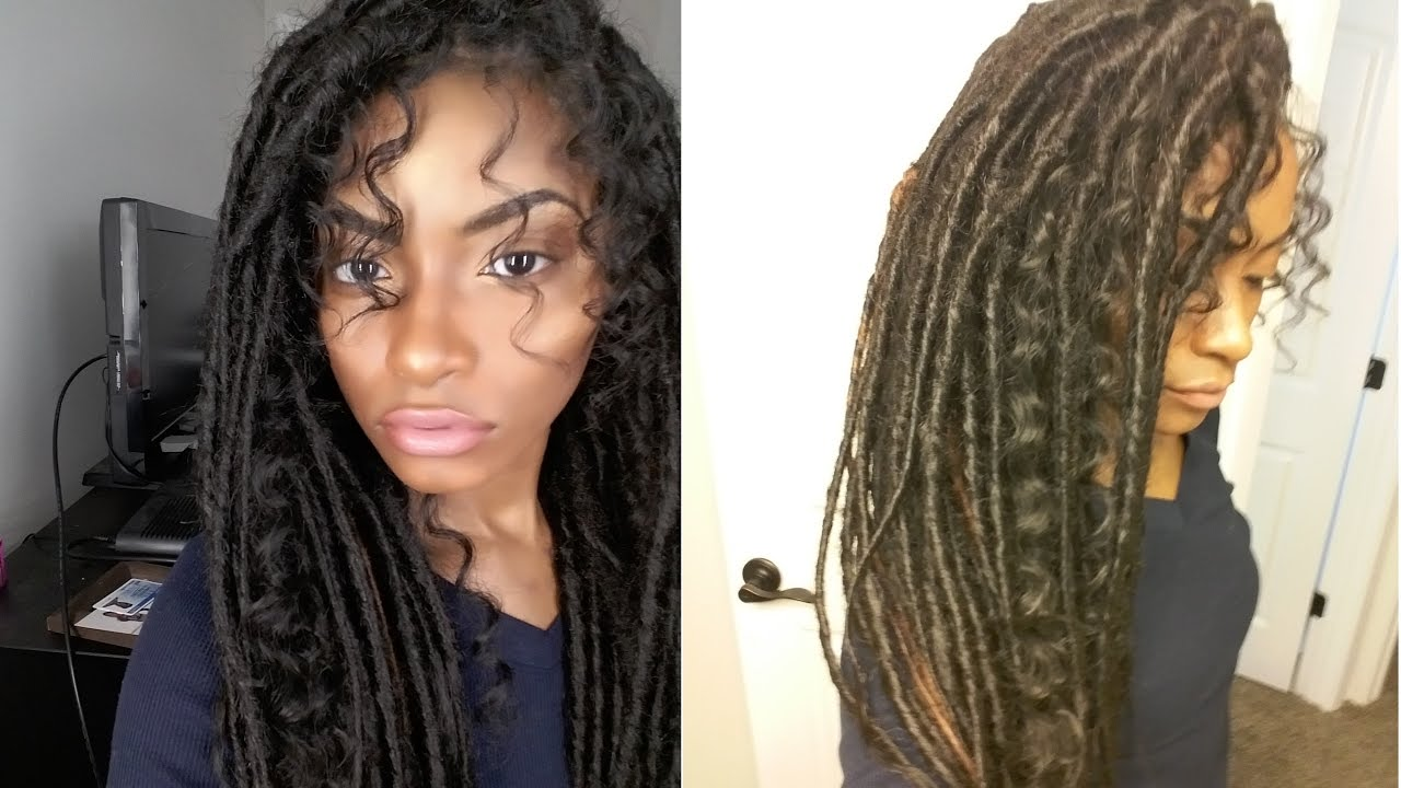 Gypsy Boho Messy Faux Locs Youtube