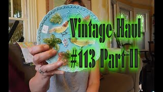 Diggin' with Dirty Girl S6E23 Vintage Haul #113 Part II: Pottery, Textiles, Glass from Sis-in-Law