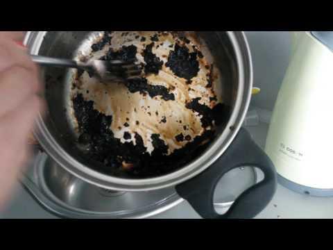 Как очистить подгоревшую кастрюлю