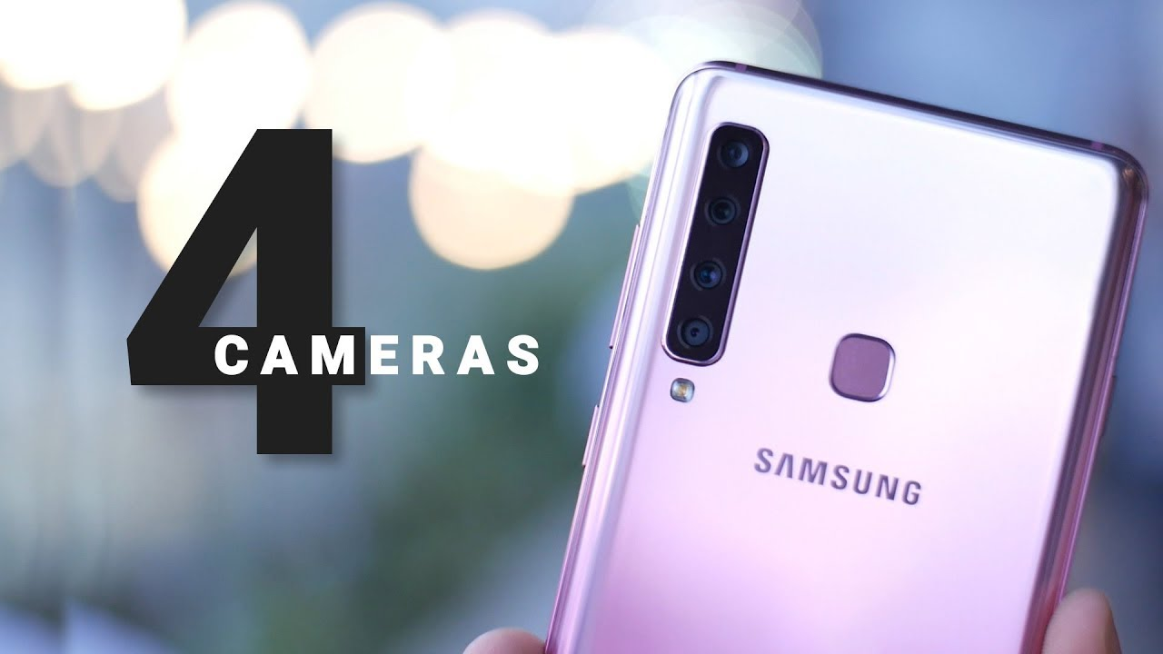 8d12e4b241c Galaxy A9 Hands On  World s First Phone with 4 Cameras! - YouTube