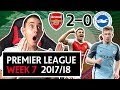 PREMIER LEAGUE WEEK 7 GOALS, HIGHLIGHTS REVIEW ARSENAL 2 0 BRIGHTON