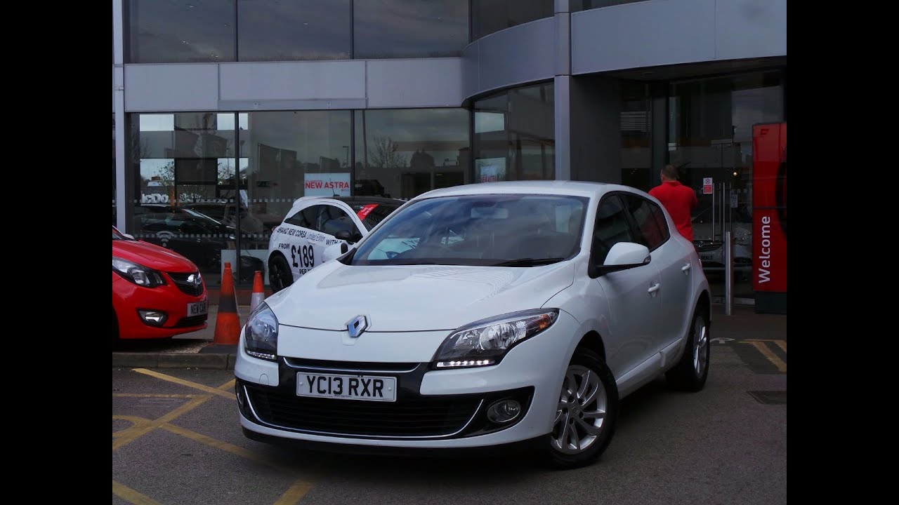 2013 13 renault megane 1 5 dci 110 dynamique tomtom 5dr in white youtube. Black Bedroom Furniture Sets. Home Design Ideas