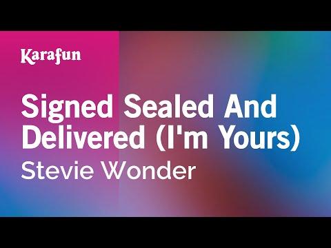 Karaoke Signed Sealed And Delivered (I'm Yours) - Stevie Wonder *