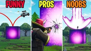 Pro CRACKS the Cube! FUNNY vs PROS vs NOOBS - Fortnite Funny Moments (Battle Royale)