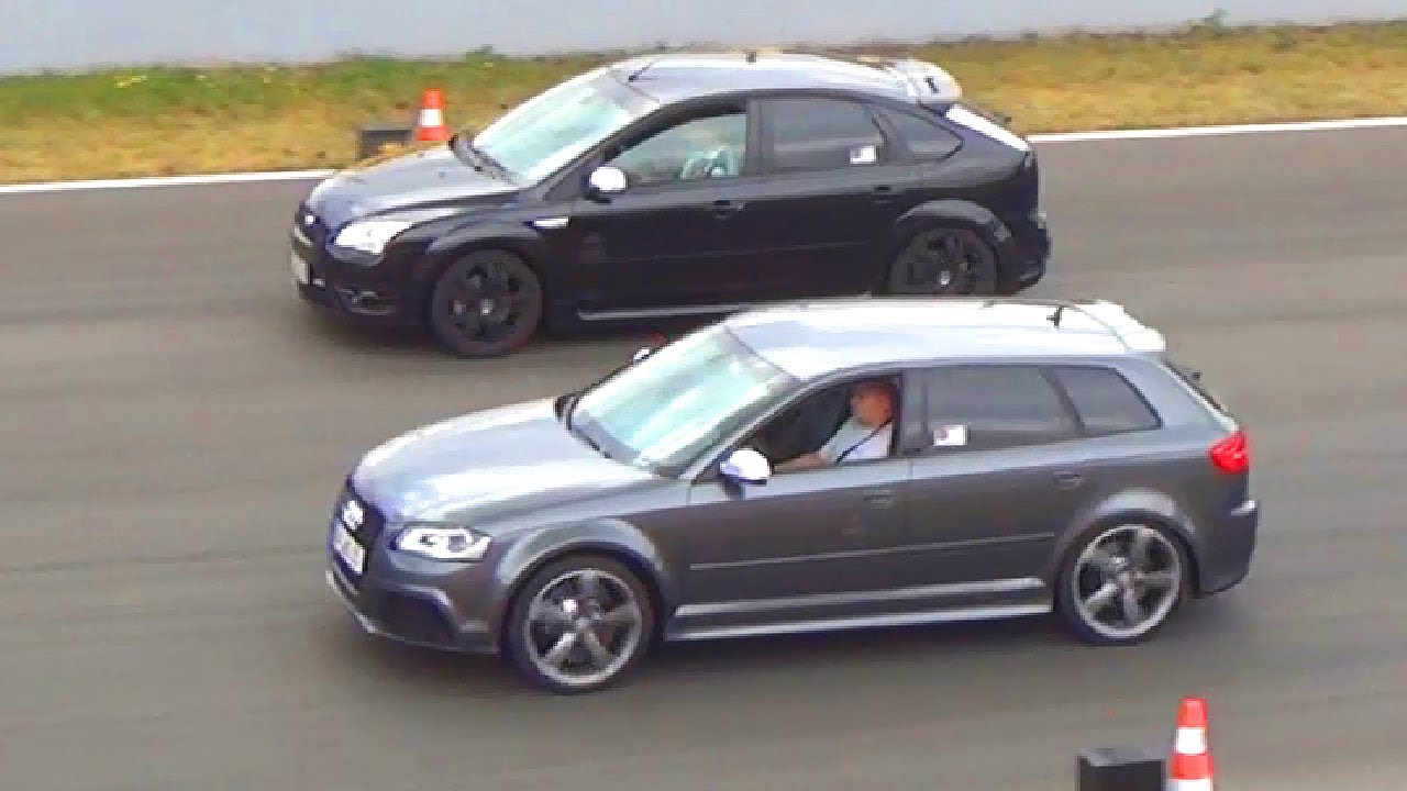 Audi Rs3 Vs Ford Focus St Rs 1 4 Mile Drag Race