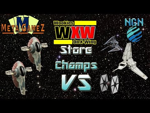 X-Wing Store Champs (Gamezilla 2016) | Game 7 - Firespray (x2) vs Lambda / Phantom / TIE F/O