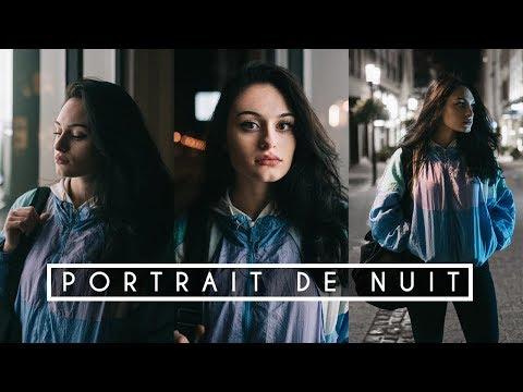 Le PORTRAIT de NUIT avec ALESSIA - (shooting photo modele)