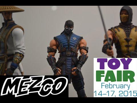 New York Toy Fair 2015 Mezco!! MORTAL KOMBAT X FIGU...