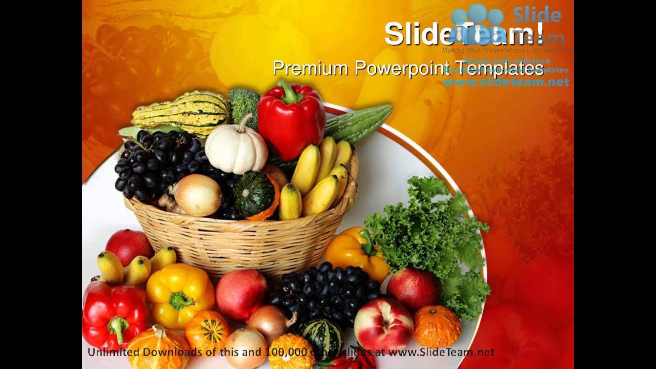 Food powerpoint background vatozozdevelopment fruits vegetables basket food powerpoint templates themes and toneelgroepblik Choice Image