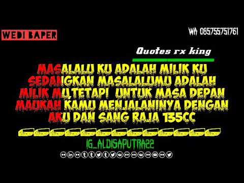 quotes baper rx king
