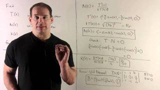 Unit Tangent and Normal Vectors for a Helix