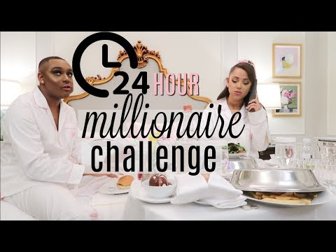 24 hour overnight challenge as millionaires
