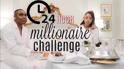 24 hour overnight challenge as millionaires!