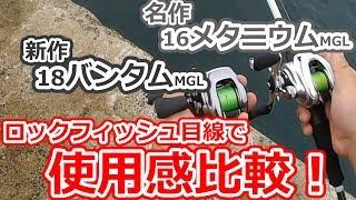 シマノの最新ベイトリール、バンタムMGLと、名機16メタニウムMGLを海で使用感比較!!