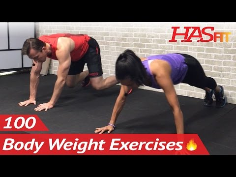 100 Bodyweight Training Exercises to Seek & Destroy Fat - Body Weight Workouts without Equipment