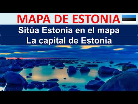 Mapa de Estonia. Donde esta Estonia. Capital de Estonia