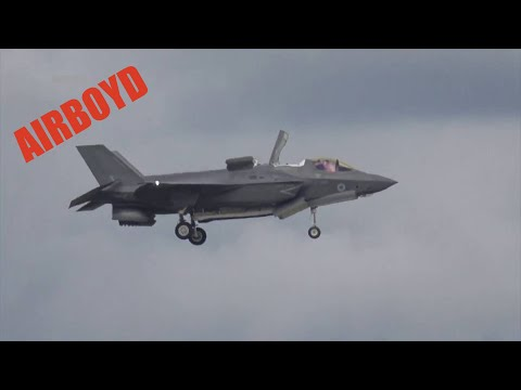 F-35 STOVL Transition, Hover, and Return To Forward Flight - Farnborough Airshow