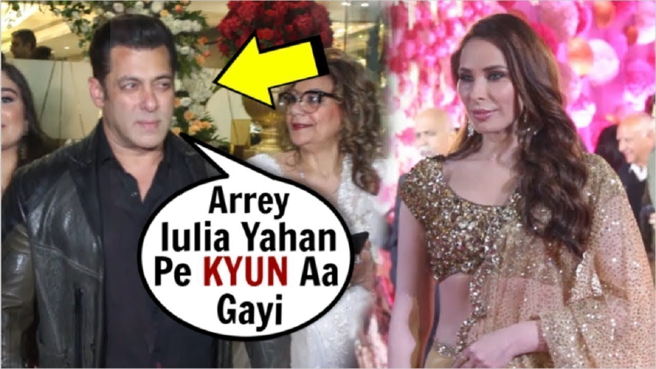 Salman Khan Caught With GF Lulia Vantur At Azhar Morani's WEDDING Reception