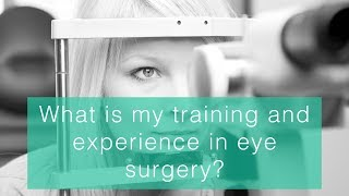 What is my training and experience in surgery?