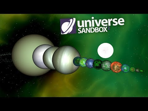 Making A Solar System Out Of Green Objects, Universe Sandbox ²