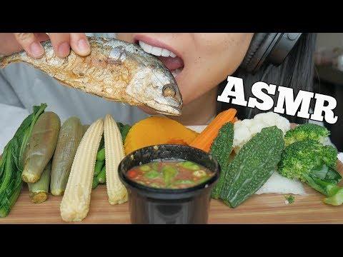 ASMR Veggies + SPICY Shrimp Paste Chilli Dip (EATING SOUNDS) NO TALKING | SAS-ASMR