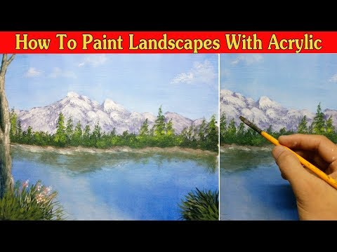 How To Paint Landscapes With Acrylic – Vẽ Tranh Phong Cảnh – Acrylic Painting #12