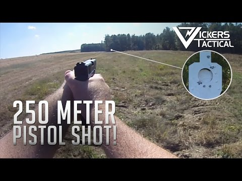 250 Meter Shot with a Pistol!