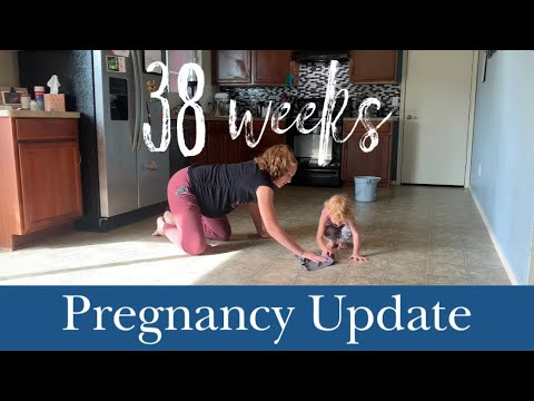 38-weeks-pregnant-mopping-the-floor-on-my-hands-and-knees-|-gender-reveal!!-+-pregnancy-update!!