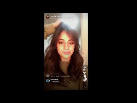 Camila Cabello Live's Instagram 14/12/2017