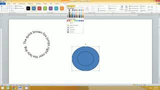 How to write text in circle in MS word