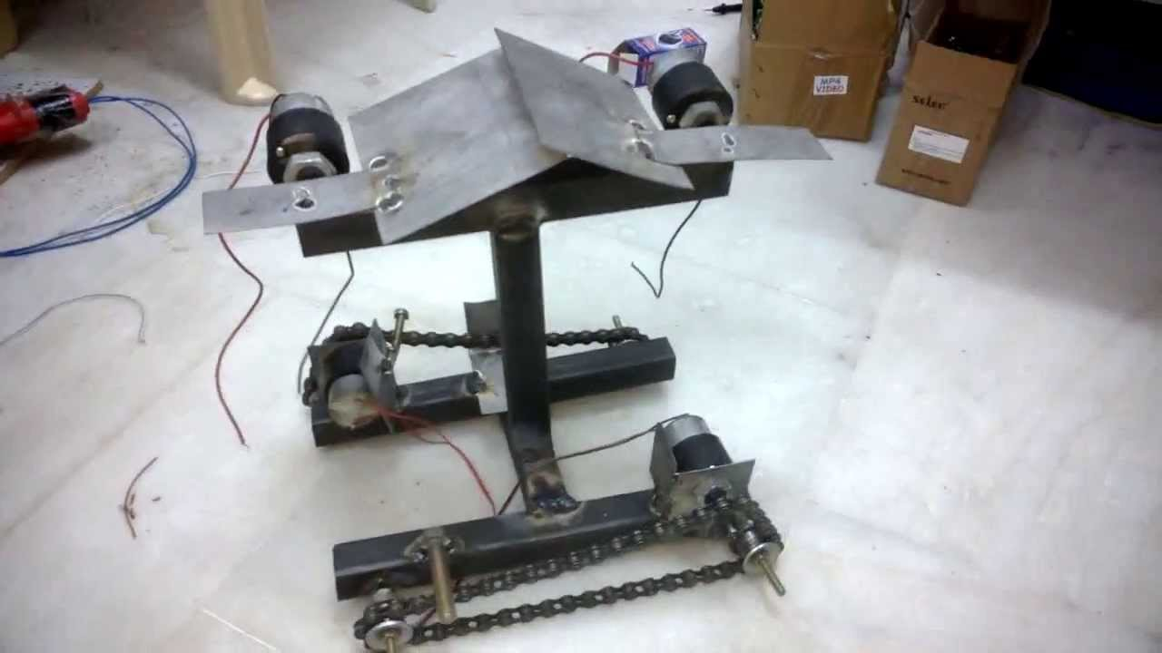 tank chain driven drive robot mechanical engineering project topics