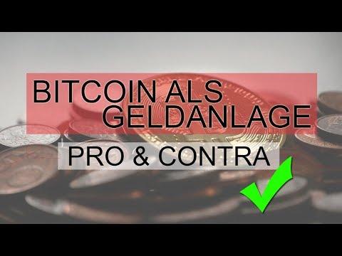 BITCOIN ALS GELDANLAGE | PRO UND CONTRA