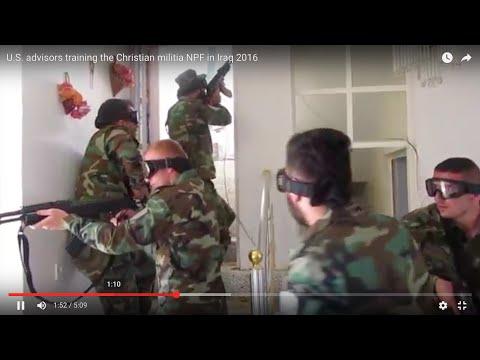 U.S. advisors training the Christian militia NPF in Iraq 2016
